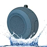 CYBORIS IPX7 Waterproof Outdoor Bluetooth Speaker Swimming Pool Floating Portable Mini Speakers Wireless 5W with Microphone & TWS for Beach, Bathroom, Home, Shower (Grey)