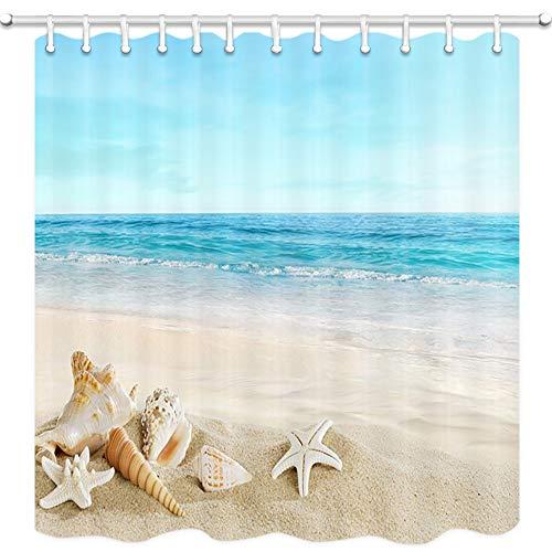 beach scene shower curtain - 6