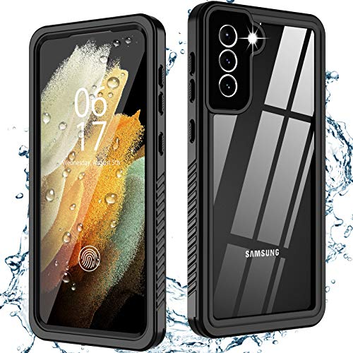 Oterkin for Samsung Galaxy S21 Case Waterproof, Built-in Screen Protector Dustproof Shockproof 360 Full Body Protective IP68 Waterproof Daily-Use Case for Galaxy S21(6.2inch) 5G
