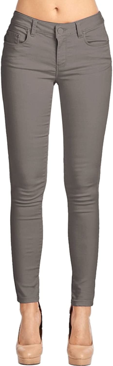 2LUV Women's Leather Coated Skinnies