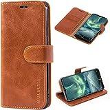 Mulbess Handyhülle für Nokia 7.2 Hülle Leder, Nokia 7.2 Handy Hüllen, Vintage Flip Handytasche Schutzhülle für Nokia 7.2 Hülle, Braun