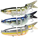 TRUSCEND Fishing Lures for Bass 4' Multi Jointed Swimbaits Slow Sinking Hard Lure Fishing Tackle Kits Lifelike Fishing Gifts for Men