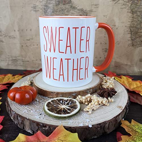 Oranje Trui Weer Mok Bookworm Mok Herfst Mok Winter Mok Geschenken voor Haar Koffie Liefhebbers