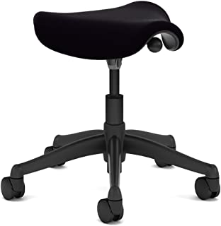 Humanscale Freedom Saddle Seat- Black Vellum on Graphite