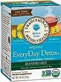 Traditional Medicinals Organic EveryDay Detox Dandelion Detox Tea, 16 Tea Bags (Pack of 2)