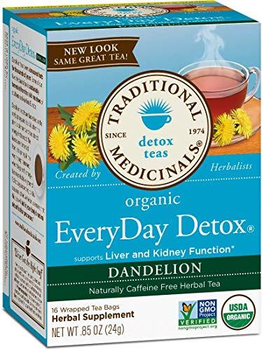 Traditional Medicinals Organic Lemon Everyday DetoxTea, 16 bags (Detox Dandelion Tea, Pack of 2)