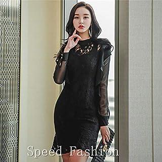 (Speed Fashion)魅力、シフォン切り替え、レースワンピース