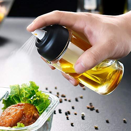 Fancylande spuitfles met olijfolie, van glas, fijne spuitfles met oliedispenser, dispenser voor kookgerei en braden, gereedschappen voor olieflesjes, voor pasta, salades, pannen, handsome