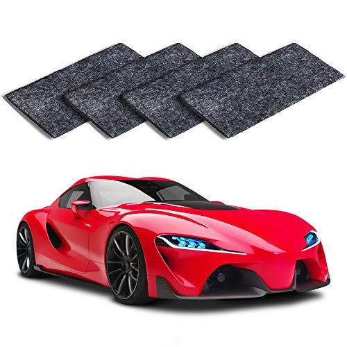 MEIREN Nano Sparkle Cloth, 4PCS Nano Magic Cloth, Car Scratch Remover Cloth Car Paint Swirl Remover Polish & Paint Restorer for Car Scratches Repair Cloth