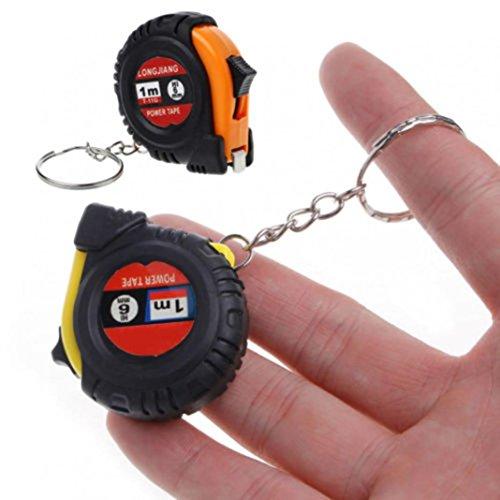 Sukisuki 1M Mini cinta métrica retráctil llavero herramienta de medición de trabajo en el hogar (color al azar)