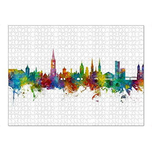artboxONE Ravensburger-Puzzle XXL (1500 Teile) Städte Freiburg Germany Skyline - Puzzle Freiburg City Cityscape