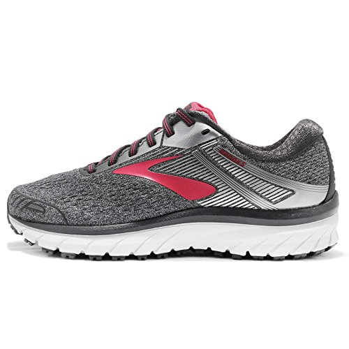 Brooks Adrenaline GTS 18 Women's Running 9.5 C/D US Ebony-Silver-Pink