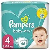 Pampers Windeln Größe 4 9-14 kg Baby Dry bis zu...