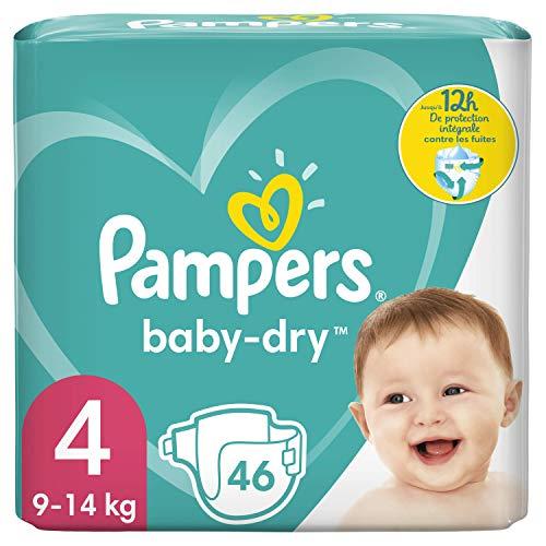 Pampers Windeln Größe 4 9-14 kg Baby Dry bis zu 12 Stunden Schutz 46 Einheiten