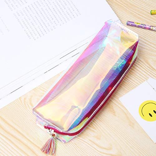 Frcolor Trousse cosmétique, brillant Femme Cosmétique Sac Multifuncition crayon support étui de voyage, idéal pour Voyager et Vie quotidienne (Rose)