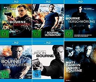 Bourne 5-Blu-Rays (die Bourne Identität, die Bourne Verschwörung, das Bourne Ultimatum, das Bourne Vermächtnis, Jason Bourne) i