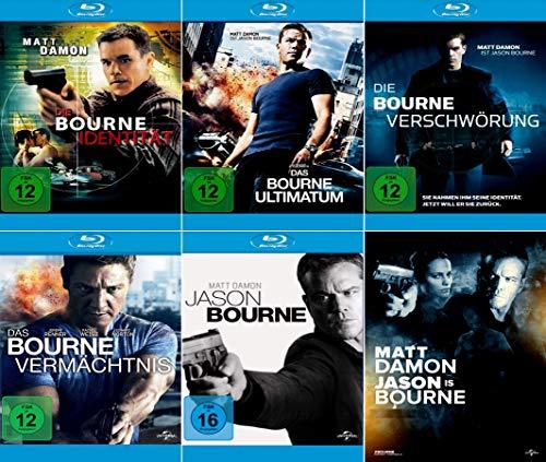 Bourne 5-Blu-Rays (die Bourne Identität, die Bourne Verschwörung, das Bourne Ultimatum, das Bourne Vermächtnis, Jason Bourne) im Set - Deutsche Originalware [5 Blu-rays]