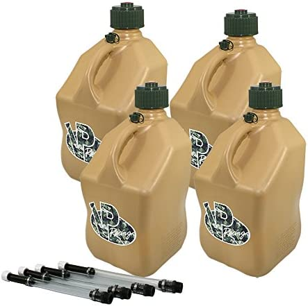 4 Special price for a limited time Pack VP 5 Gallon Square Jugs with Racing Tactical Utility Tan Ranking TOP7