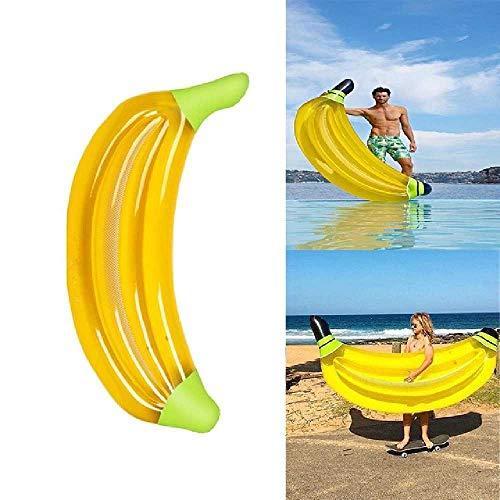 DUNDUNGUOJI Hammocks & Loungers aufblasbare Matratze Bananenpool Schnorchel Schwimmbad Floß Swimming Ring Wasserbett Gelb