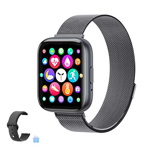Sebay Smart Android Watch, Fitness Tracker Watches for Men/Women, Smart Watch for Android Phones/iOS, Blood Pressure Watches for Women, Digital Watch Womens and Step Counter (T99-Noble Black)