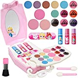 Geyiie Kids Makeup Kit for Girls, Washable Kids Play Makeup Set Pretend Makeup for Girls Real Makeup Play Kids Cosmetics Set Safe & Non-Toxic Makeup Gift for Toddlers Christmas Birthday Ages 3 and up