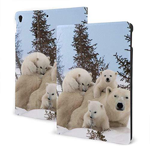 Fantasy Mustang Funda para iPad Air 3rd Gen 10.5 '2019 / iPad Pro 10.5' 2017 Soporte Tipo Folio multiángulo Auto Sleep / Wake para iPad 10.5 Pulgadas Tablet-Polar Bear Family-One Size