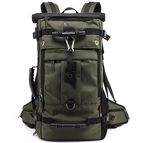 YuHan Large Capacity Oxford Travel Bag 17 Inch Laptop Outdoor Hiking Duffel Bag Camping Rucksack Trekking Backpack Green