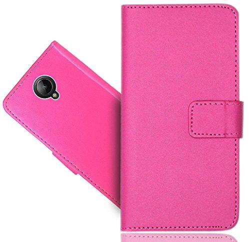 Lenovo Vibe C2 Handy Tasche, FoneExpert® Wallet Hülle Flip Cover Hüllen Etui Hülle Ledertasche Lederhülle Schutzhülle Für Lenovo Vibe C2