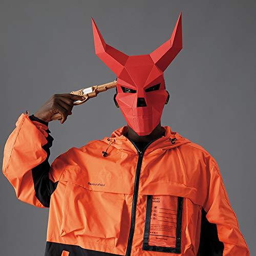 Cráneo de la esquina del diablo 3D de papel Diablo Máscara Máscara...