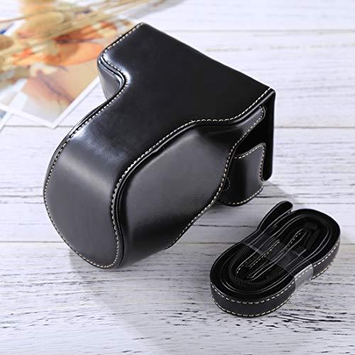 De enige goede kwaliteit Fashion Convenience duurzame Full Body Camera PU lederen tas met riem voor FUJIFILM X-A3 / X-A2/ X-M1 / X-A10 (16-50mm / 18-55mm / XF 35mm Lens) Pretty, Zwart