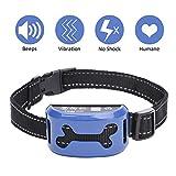 WOLFWILL Collar Antiladridos para Perro Collar Adiestramiento con Batería con 7 Niveles de sensibilidad Ajustable,Correa adiestramiento para Perros