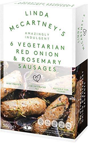 LINDA McCARTNEY Vegetariana cebolla roja y romero salchichas 300 GR (Pack de 2)