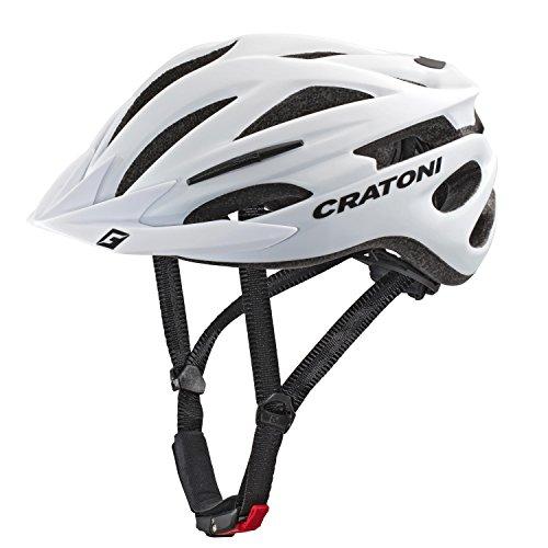 Cratoni Pacer+ Fahrradhelm, White Matt, L-XL