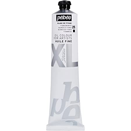 Pébéo - Olio fine XL 200 ML - Pittura ad Olio Bianco - Olio Bianco Titanio - Pittura ad Olio Pébéo - Bianco Titanio 200 ml