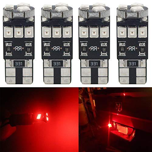 ALOPEE - Paquete de 4 - Rojo 194 T10 168 2825 W5W 158 2835 9 Bombilla LED Canbus SMD, 12V Iluminación Interior del Automóvil para el Techo Mapa Mapa Tablero de Luces Luces de Matrícula