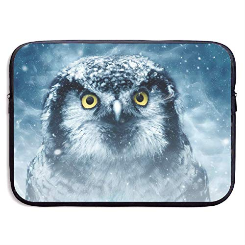 JKOVE Borsa per PC Portatile,Printed Bird Owl Animal Natural Ultrabook Briefcase Sleeve Bags Cover for MacBook Pro/Acer/Asus/Lenovo Dell