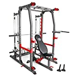 Marcy Pro Smith Machine Weight Bench Home Gym Total Body Workout...