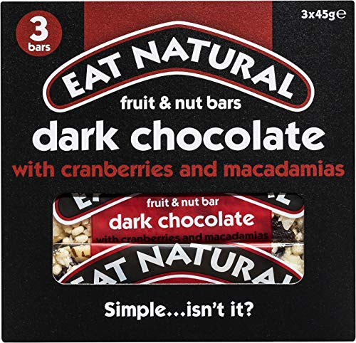 Eat Natural Pure chocolade cranberry macadamia 45 gram