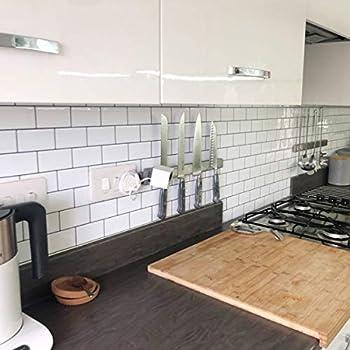 Stickgoo White Subway Tiles Peel And Stick Backsplash Stick On Tiles Kitchen Backsplash Pack Of 5 Thicker Design Amazon Sg Diy Tools