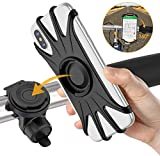 Bike Phone Mount, VUP [Detachable] Silicone Phone Stand for Bicycle, 360° Rotatable, Face & Touch ID, Universal Motorcycle Phone Mount for iPhone 11/Pro/XS/Max/Xr/X/7/8 Plus, Samsung S10/S9/S8