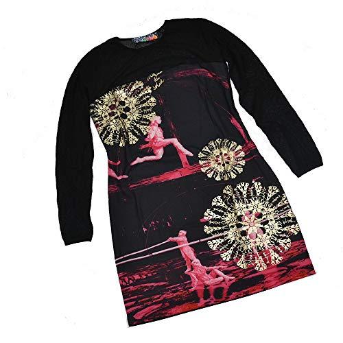 Desigual - Vestido de verano para mujer, talla L, color negro