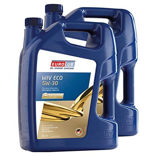 Eurolub 2X Motoröl 5W-30 Wiv Eco Benzin Diesel Benzinmotor Dieselmotor Motor Motoren Öl Engine Oil...