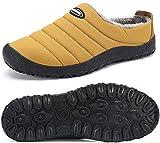 Mishansha Zapatillas de Estar por Casa Mujer Hombre Zapatos de Casa Invierno con Forro de Piel - Cálidas y Cómodas - con Suela Antideslizante para Exterior e Interior, Amarillo 38