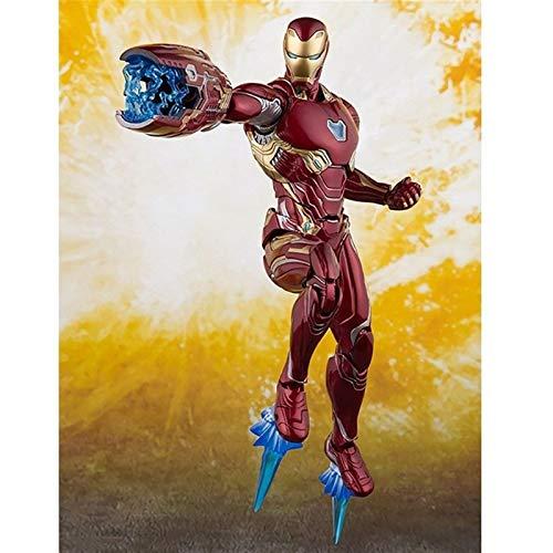 WaWeiY The Avengers Infinity War Ironman Action Figures MK50 Iron Man Model Toys 16cm, Decorazioni Desktop Home