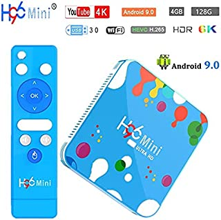 4G 128G Android TV Box , H96 Mini H6 Android 9.0 Smart TV Box Quad Core 4G DDR3 128G EMMC ROM Set Top Box Support 4K 6K 3D H.265 Dual WiFi 2.4G /5G Smart TV Box - coolthings.us