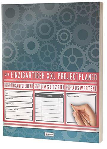 """Mein Projektplaner / Planen, Umsetzen, Auswerten! / 122 Seiten, Register, Kontakte uvm. / PR201 \""""Zahnräder"""" / DIN A4 Softcover"""