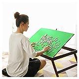 Life Equipment Mesa de rompecabezas de madera para adultos y niños Mesa inclinable plegable portátil para ahorro y almacenamiento de rompecabezas Tableros de rompecabezas de 1000 piezas Bandeja de