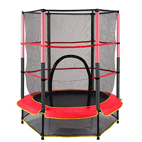 Trampoline 55 Inch Trampoline met Safety Net Enclosure Foam Pad Indoor en Outdoor Jumper Toy Outdoor Trampolines roze trampoline,dljyy
