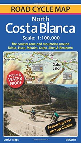 North Costa Blanca: Road Cycle Map