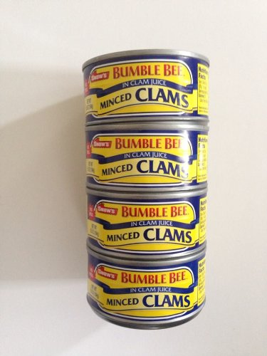 Snow's Bumble Bee Minced Clams 4 Pack